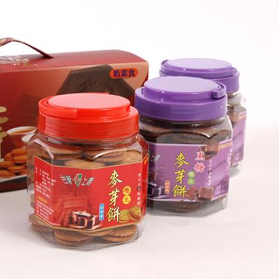 台灣上青-養生麥芽餅三罐入禮盒