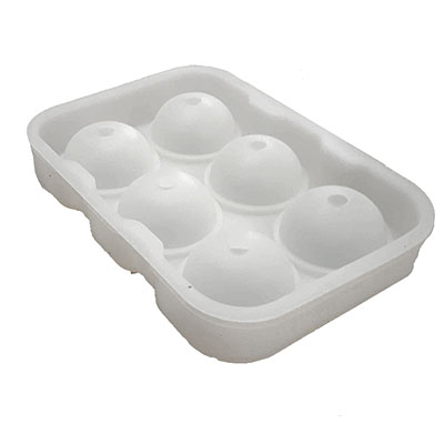食品級威士忌六球製冰盒 [白色]
