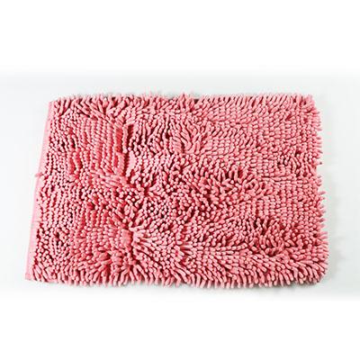 【百鈴】雪尼爾日式強力吸水地墊-粉紅色