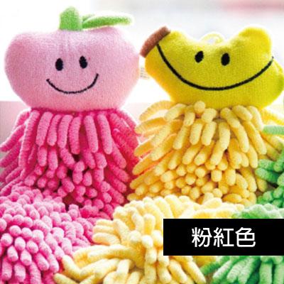 【百鈴】雪尼爾超吸水擦手巾-水果-粉紅色