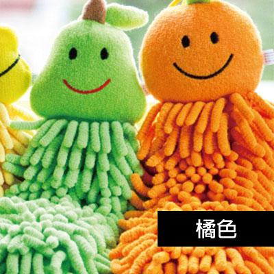 【百鈴】雪尼爾超吸水擦手巾-水果-橘色