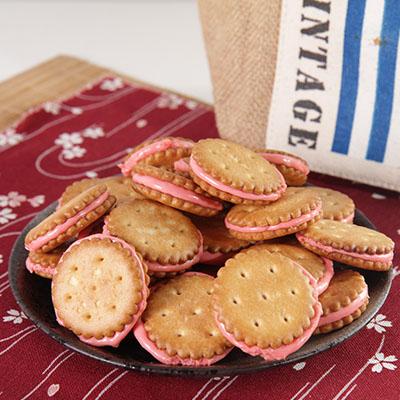 蕃薯島牛軋麥芽小圓餅-草莓