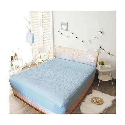 3M 防潑水床包式保潔墊-單人 [天空藍]