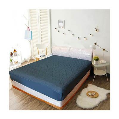 3M 防潑水床包式保潔墊-雙人 [深灰色]