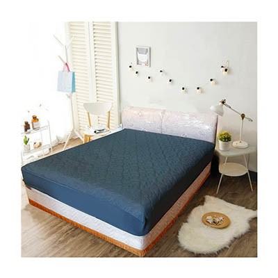 3M 防潑水床包式保潔墊-加大 [深灰色]