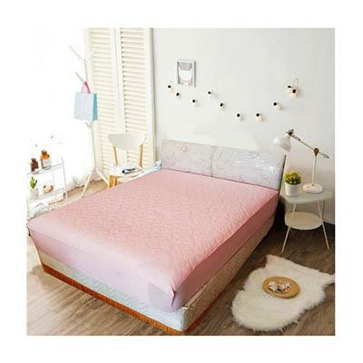 3M 防潑水床包式保潔墊-特大 [公主粉]