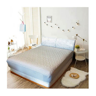 3M 防潑水床包式保潔墊-雙人 [淺灰色]