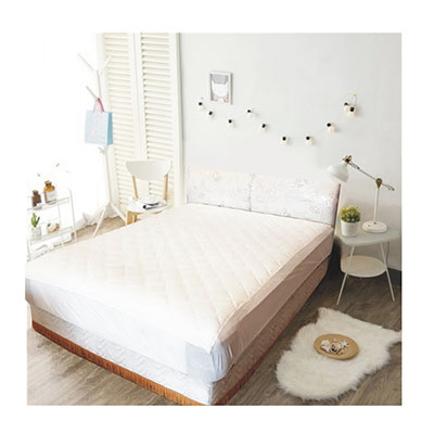 3M 防潑水床包式保潔墊-特大 [白色]