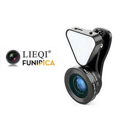 LQ-035-LIEQI 獵奇035補光燈廣角鏡頭 [玫瑰金]