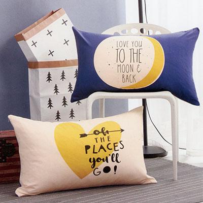 Q版雙面純棉枕頭套 [我愛月亮]