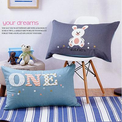 Q版雙面純棉枕頭套 [ONE兔]