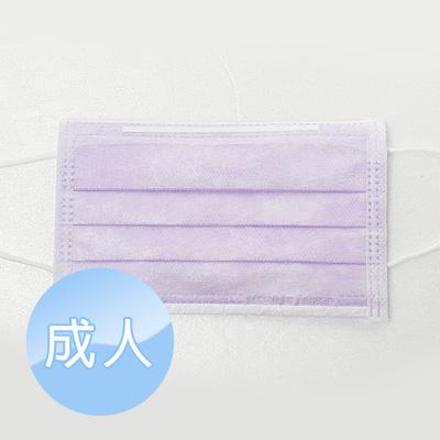 三層平面醫療口罩 成人50入/盒 [紫]