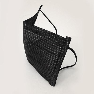 曜石黑平面口罩(50入/盒)