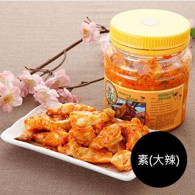 韓式腐乳杏鮑菇600g(罐裝) [素-大辣]