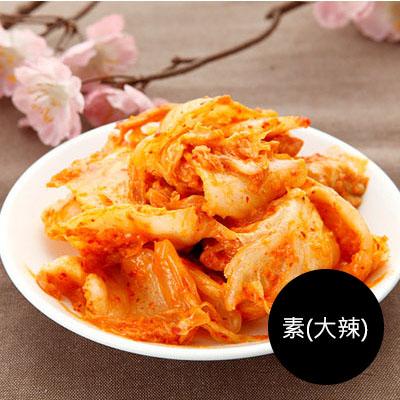 韓式泡菜+杏鮑菇 (綜合罐)600g(罐裝) [素-大辣]