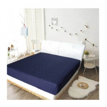 3M 防潑水床包式保潔墊-雙人 [深藍色]