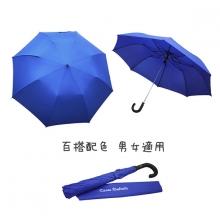 防護罩二折半自動傘 [寶藍]