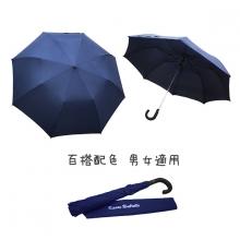 防護罩二折半自動傘 [深藍]