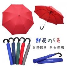 防護罩二折半自動傘 [大紅]