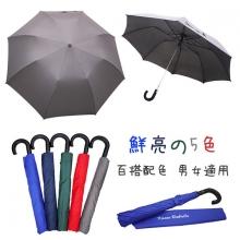 防護罩二折半自動傘 [鐵灰]