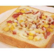 厚片吐司被薩 - 火腿玉米(3片)