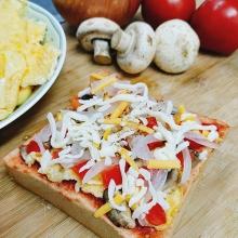 厚片吐司披薩 - 義式番茄烘蛋(3片)