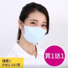 順易利防霾PM2.5口罩 30入/盒L 買一送一(4/11~4/22下單) [淺藍]