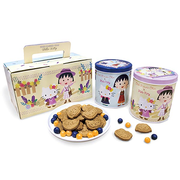 Hello KittyX 櫻桃小丸子水果糖餅乾禮盒