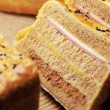 全麥素肉鬆起酥素火腿三明治