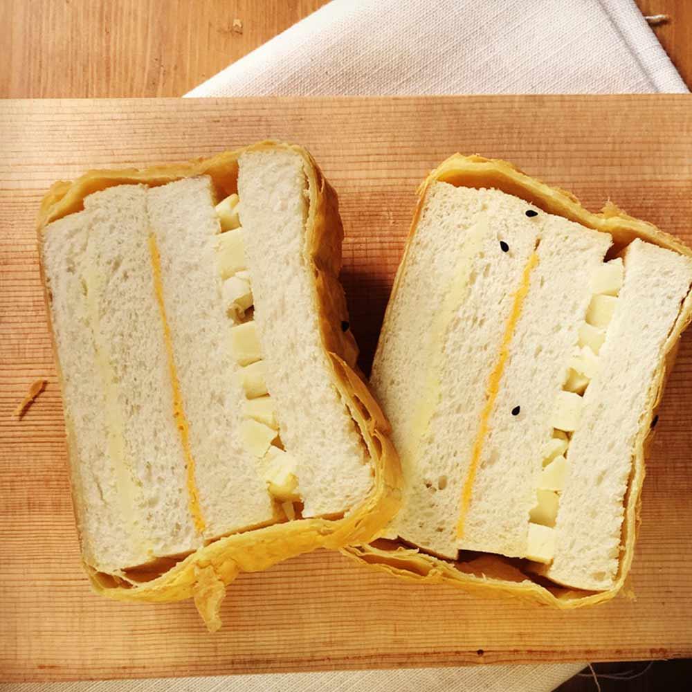 切達乳酪絲三重奏起酥三明治