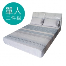 MIT 3M 涼感天絲(薄)床包二件組-單人3.5尺 [夢語]