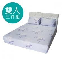 MIT 3M 涼感天絲(薄)床包三件組-雙人5尺 [夏日庭樹]