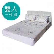 MIT 3M 涼感天絲(薄)床包三件組-雙人5尺 [紫薇]