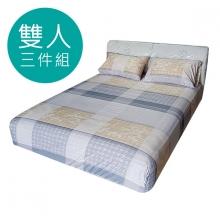MIT 3M 涼感天絲(薄)床包三件組-雙人5尺 [安娜貝拉咖啡色]