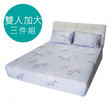 MIT 3M 涼感天絲(薄)床包三件組-雙人加大6尺 [夏日庭樹]