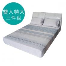 MIT 3M 涼感天絲(薄)床包三件組-雙人特大6*7尺 [夢語]