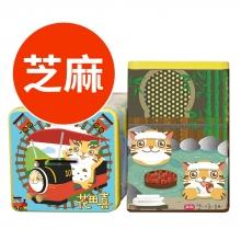 苗栗貓貍喵罐天使的眼淚蛋捲(芝麻)1包2入,共20入
