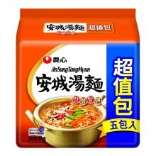 農心安城湯麵5入(超值包)
