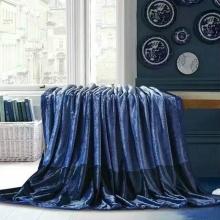 歐規高織芙蓉毯 [心平氣和(深藍)