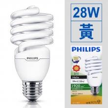 螺旋省電燈泡 28W/110V [黃]