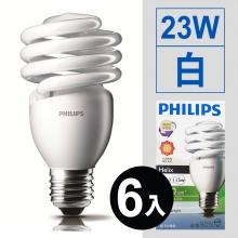 螺旋省電燈泡 23W/110V*6入 [白]