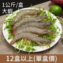 卡馬龍巨無霸 美洲白晶蝦(30/40)1KG/盒 12盒以上(單盒價)