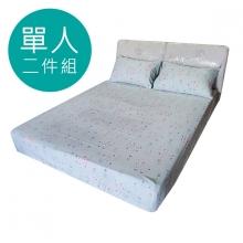 MIT 3M 涼感天絲(薄)床包二件組-單人3.5尺 [彩虹小羊 ]