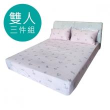 MIT 3M 涼感天絲(薄)床包三件組-雙人5尺 [可愛小狐狸 ]
