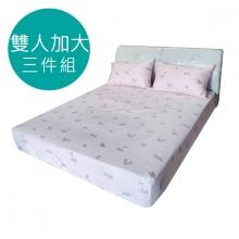 MIT 3M 涼感天絲(薄)床包三件組-雙人加大6尺 [可愛小狐狸 ]