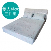 MIT 3M 涼感天絲(薄)床包三件組-雙人特大6*7尺 [彩虹小羊 ]