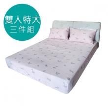 MIT 3M 涼感天絲(薄)床包三件組-雙人特大6*7尺 [可愛小狐狸 ]