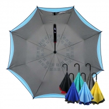 雅色王自動防風反向傘 [經典灰]