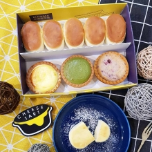璀璨寶石禮盒(半熟乳酪蛋糕*5+原味起司塔*1+抹茶起司塔*1+綜合野莓起司塔*1)