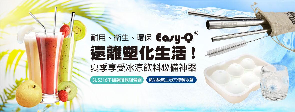 Easy-Q 4件組316不鏽鋼吸管